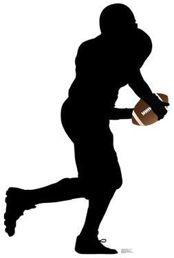 Football Player Running Silhouette