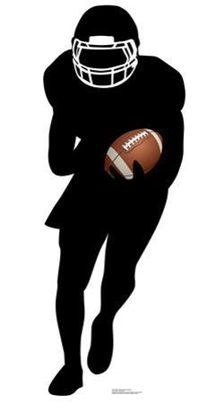 Football Player Runningback Silhouette