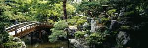 Footbridge across a Pond, Kyoto Imperial Palace Gardens, Kyoto Prefecture, Japan