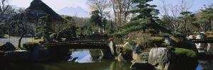 Footbridge in a Garden, Japanese Garden, Oshino, Japan