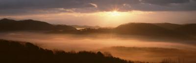 Foothills Parkway at Sunrise, Great Smoky Mountains National Park, Tennessee, USA