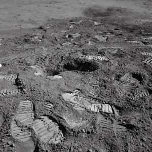 Footprints on the Surface of the Moon