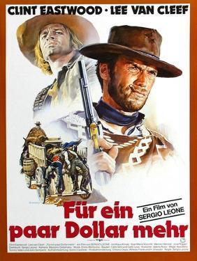 For a Few Dollars More, L-R Klaus Kinski, Clint Eastwood, 1965