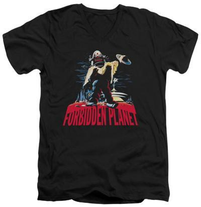 Forbidden Planet - Robby And Woman V-Neck