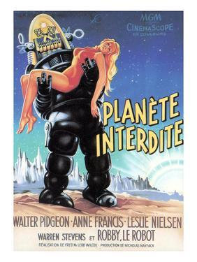 Forbidden Planet, Robby the Robot Holding Anne Francis, 1956
