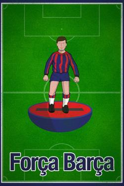 Forca Barca Football Soccer Sports Poster