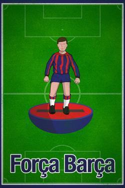 Forca Barca Football Soccer Sports Poster
