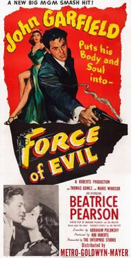 Force of Evil, John Garfield, Beatrice Pearson, 1948