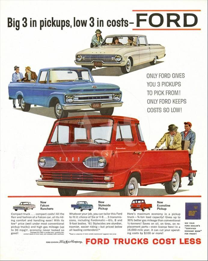 Ford 1961 Big 3 In Pickups Prints At Allposters Com