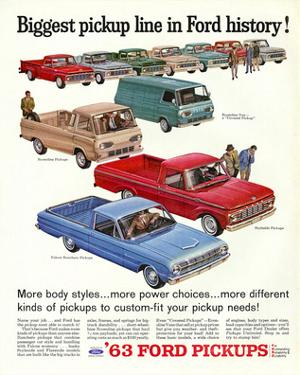 Ford 1963 Biggest Pickup Line