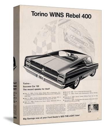 Ford 1968 Torino Wins Rebel400