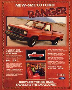 Ford 1983 New-Size Ranger