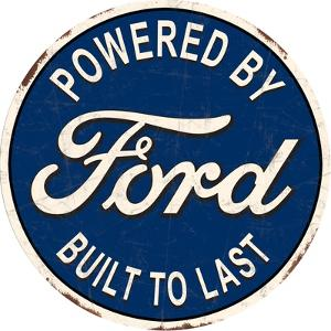 Ford Built to Last Tin Sign