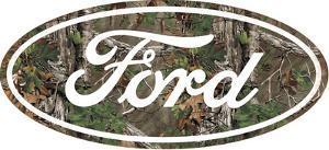 Ford Camo Logo Tin Sign