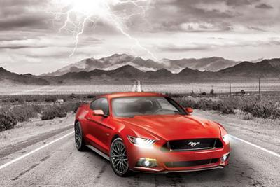 Ford- Classic 2015 Red Mustang