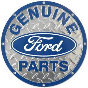 Ford Genuine Parts Diamond Plate Round