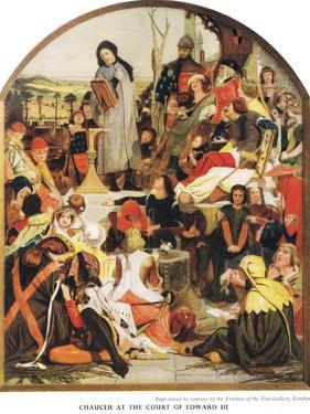 Chaucer at the Court of Edward III, c.1940s by Ford Madox Brown