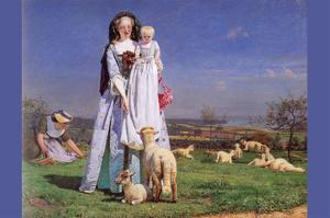 Pretty Baa Lambs by Ford Madox Brown