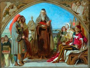 Sketch for 'Wycliffe Reading His Translation', 1847 by Ford Madox Brown