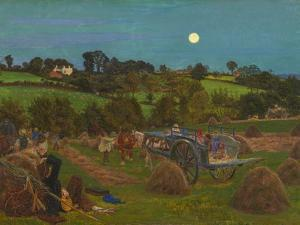 The Hayfield by Ford Madox Brown