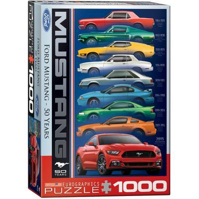 Ford Mustang 50 Years 1000 Piece Puzzle