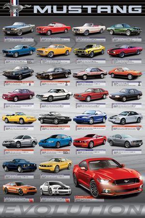 "SHELBY FORD MUSTANG GT500 KR SPORTS CAR ART POSTER PRINT 18"" x 24/"" Giclee Boss"