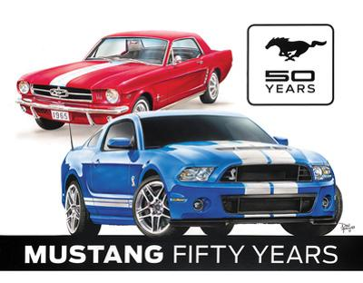 Ford Mustang 50th Tin Sign