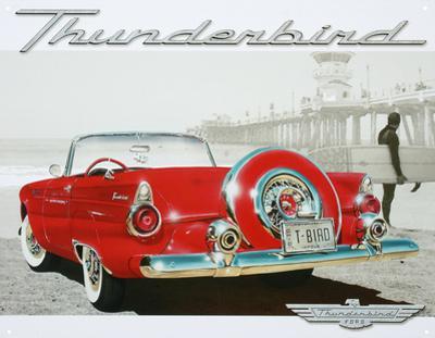Ford Thunderbird T-Bird Beach Scene