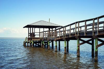Rustic Wooden Fishing and Swimming Pier by forestpath