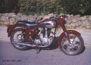 BSA B33 500c 1954 by Forlag Hakan Eriksson