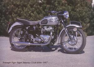 Triumph Tiger Super America T110 650c 1957 by Forlag Hakan Eriksson