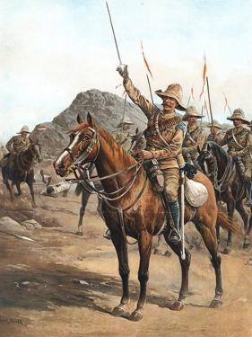 Form Up, No 2! Form Up!, British Lancers at the Battle of Omdurman, Sudan, 1898