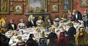 Formal Dinner Party for Dogs, 1893