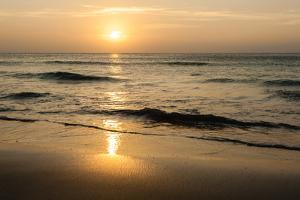 Beach in Sunset Time by format35