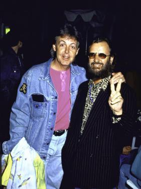 Former Beatles Paul Mccartney and Ringo Starr
