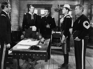 FORT APACHE, 1948 directed by JOHN FORD Henry Fonda, John Wayne, George O'Brien, John Agar and Ward