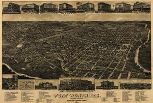 Fort Worth, Texas - Panoramic Map