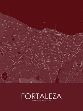 Fortaleza, Brazil Red Map