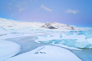 Iceland, Jokulsarlon, a Frozen Lagoon Near by Jokulsarlon by Fortunato Gatto