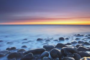 United Kingdom, Uk, Northumberland, Sunrise at Dunstanburgh Beach by Fortunato Gatto