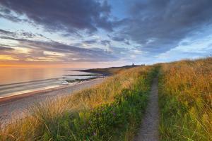 United Kingdom, Uk, Northumberland, Sunrise at Dunstanburgh Castle by Fortunato Gatto