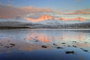 United Kingdom, Uk, Scotland, Highlands, Black Cuillin at Sunrise by Fortunato Gatto