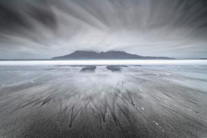United Kingdom, Uk, Scotland, Highlands, Eigg Island, a Storm Approaching on Laig Bay by Fortunato Gatto