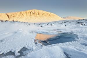 United Kingdom, Uk, Scotland, Highlands, Etive River Completely Frozen During a Very Cold January by Fortunato Gatto