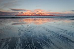 United Kingdom, Uk, Scotland, Highlands, the First Light Kisses Rum Mountaing on the Background by Fortunato Gatto
