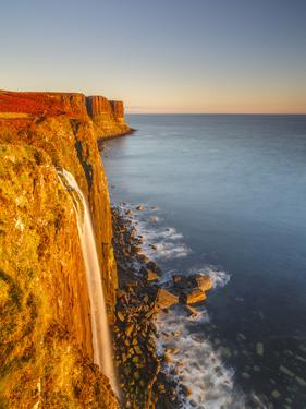 United Kingdom, Uk, Scotland, Inner Hebrides, Isle of Skye, Kilt Rock by Fortunato Gatto