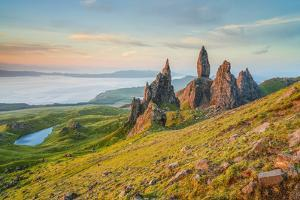 United Kingdom, Uk, Scotland, Inner Hebrides, Isle of Skye, Old Man of Storr by Fortunato Gatto