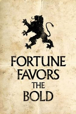 Fortune Favors the Bold Motivational Latin Proverb Poster