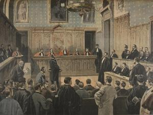 The Panama Trial, Illustration from 'Le Petit Journal: Supplement Illustre', 2nd January 1898 by Fortuné Louis Méaulle