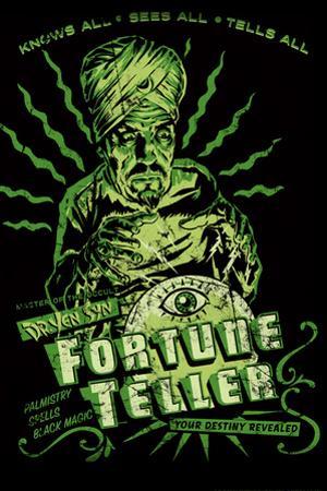 Fortune Teller Retro by Retro-A-Go-Go Poster
